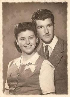 Fotografia de Maria Bel i Ignasi Calderé, cap al 1948.