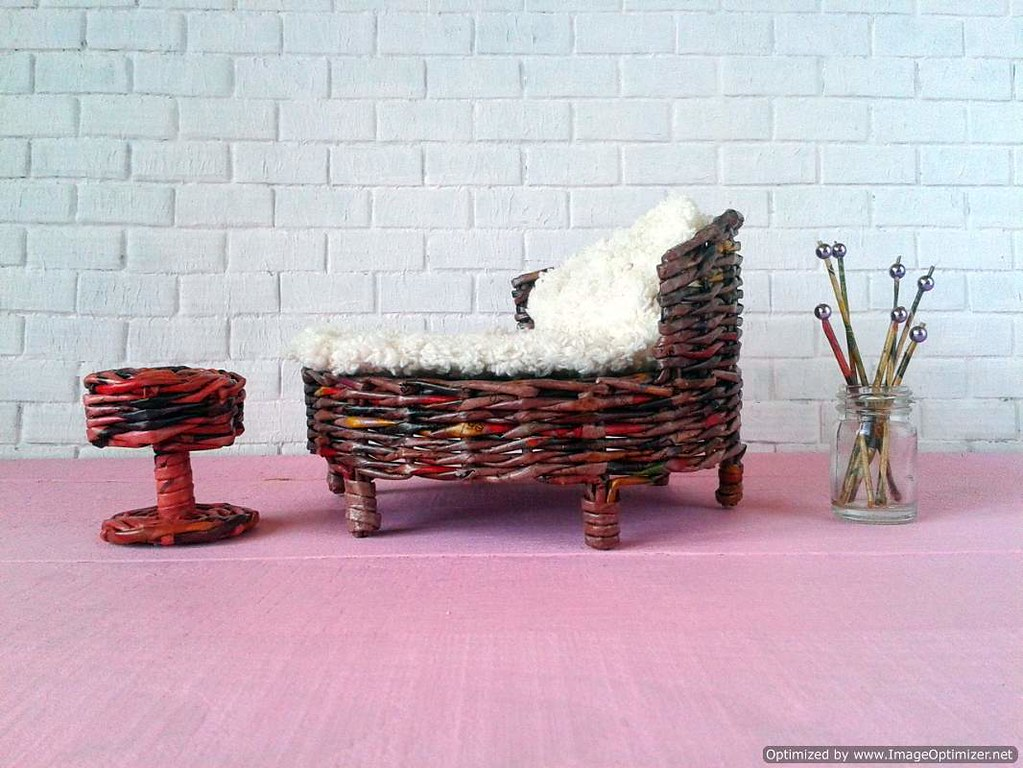 Take Miniature Outdoor Furniture Bed For Pullip And Other Different Doll.  Eco Friendly. Take