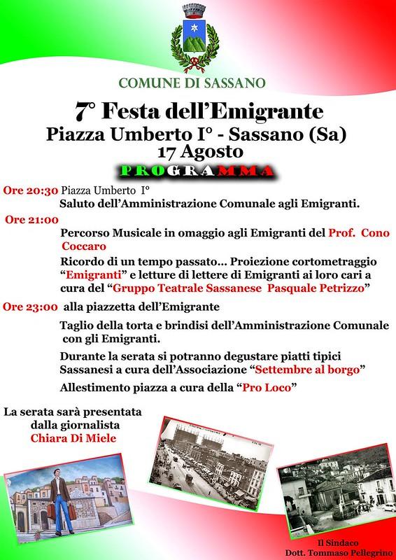 Sassano il 17 agosto la festa dell 39 emigrante per salutare - Cerco piscina fuori terra ...