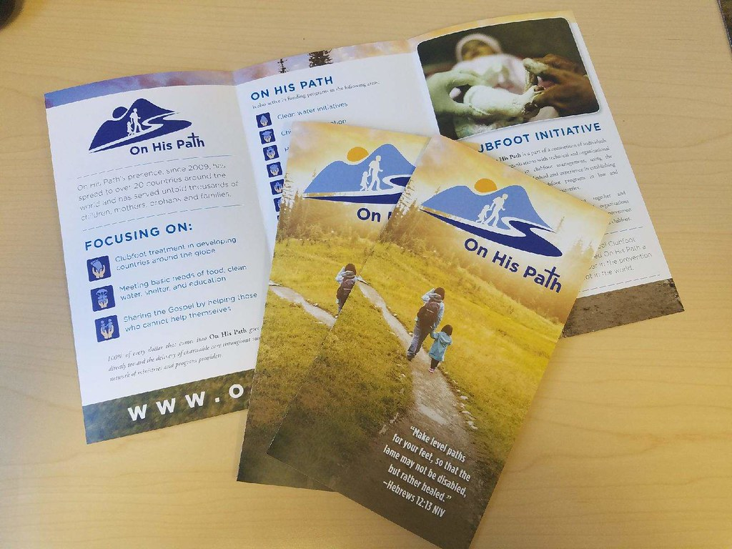 on his path brochure 8 5 x 14 tri fold brochure pip printing