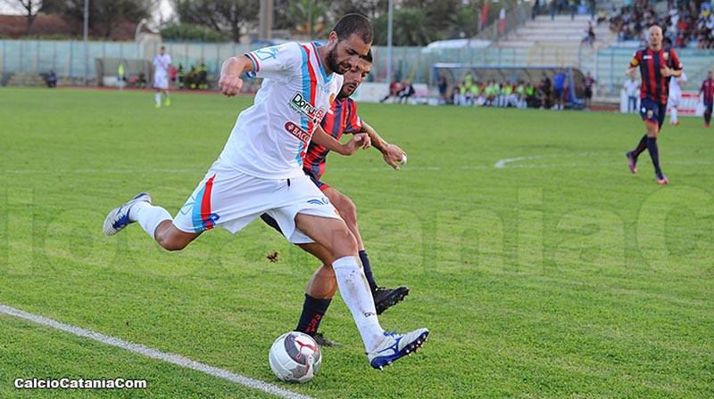 Cristian Caccetta in azione a Caserta