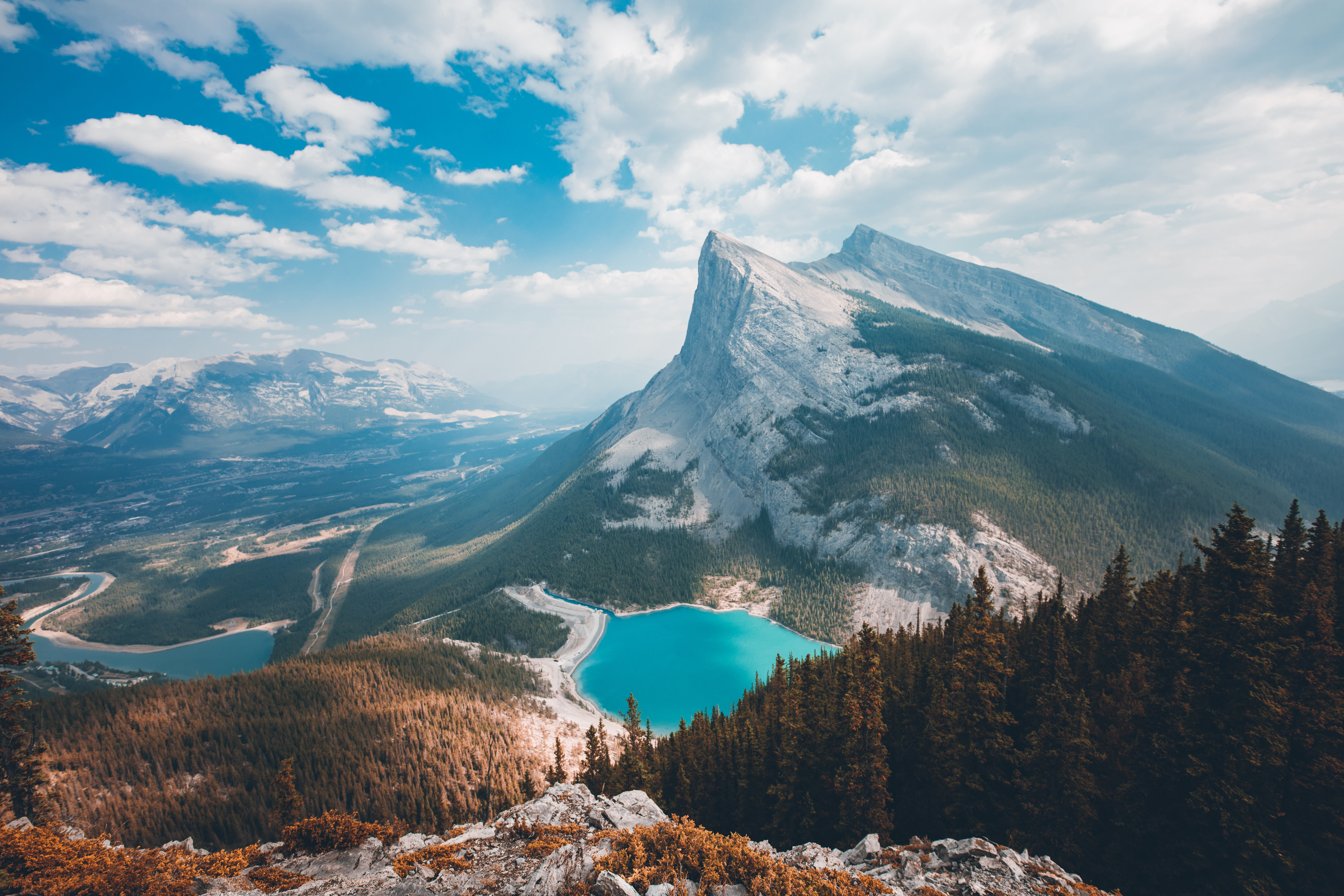 6720x4480 Breathtaking View From The East End Of Rundle Canmore Alberta C By Brendan Bannister R EarthPorn
