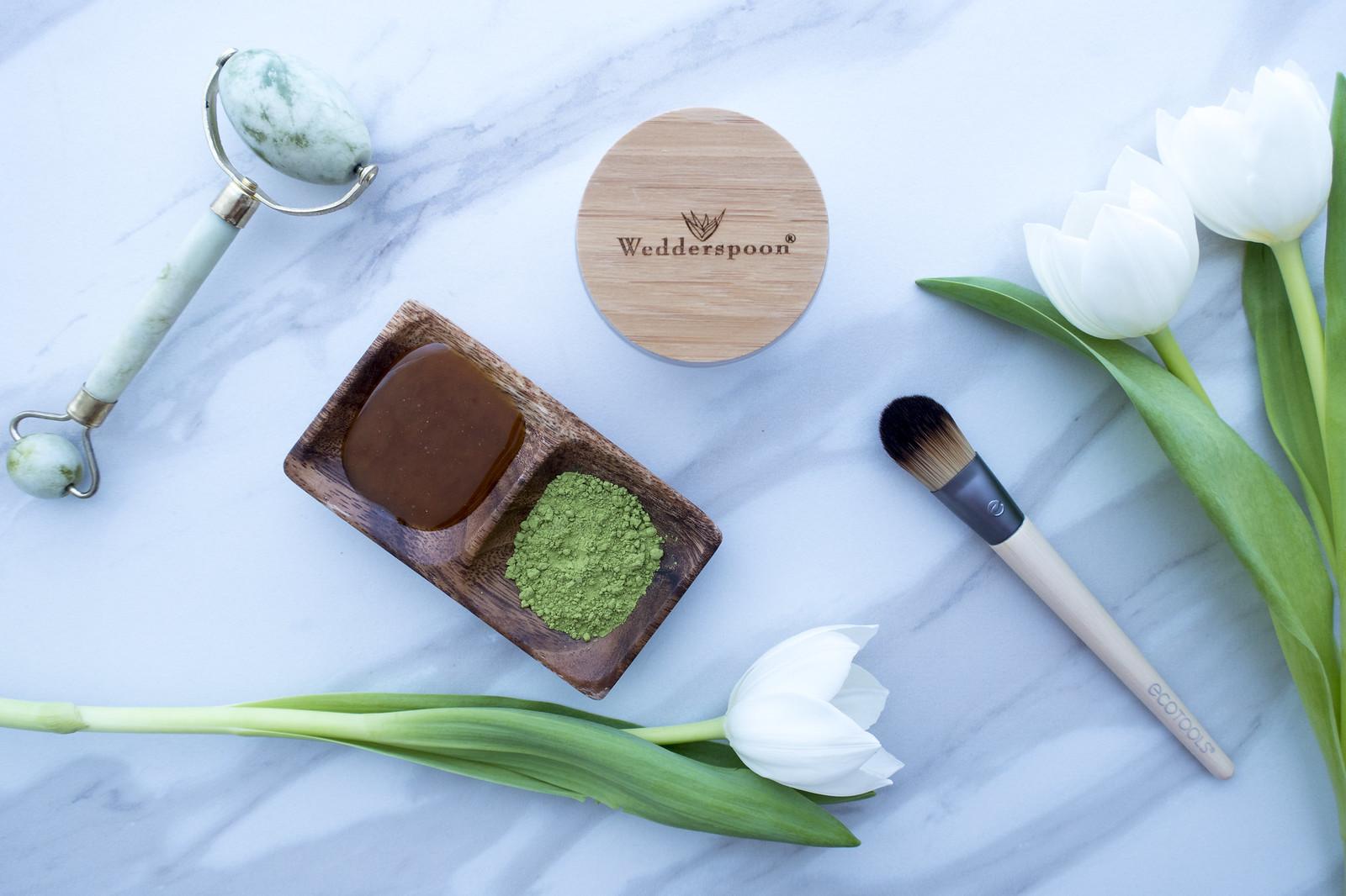 Organic Wedderspoon Jade Roller Honey Mask Nightcream