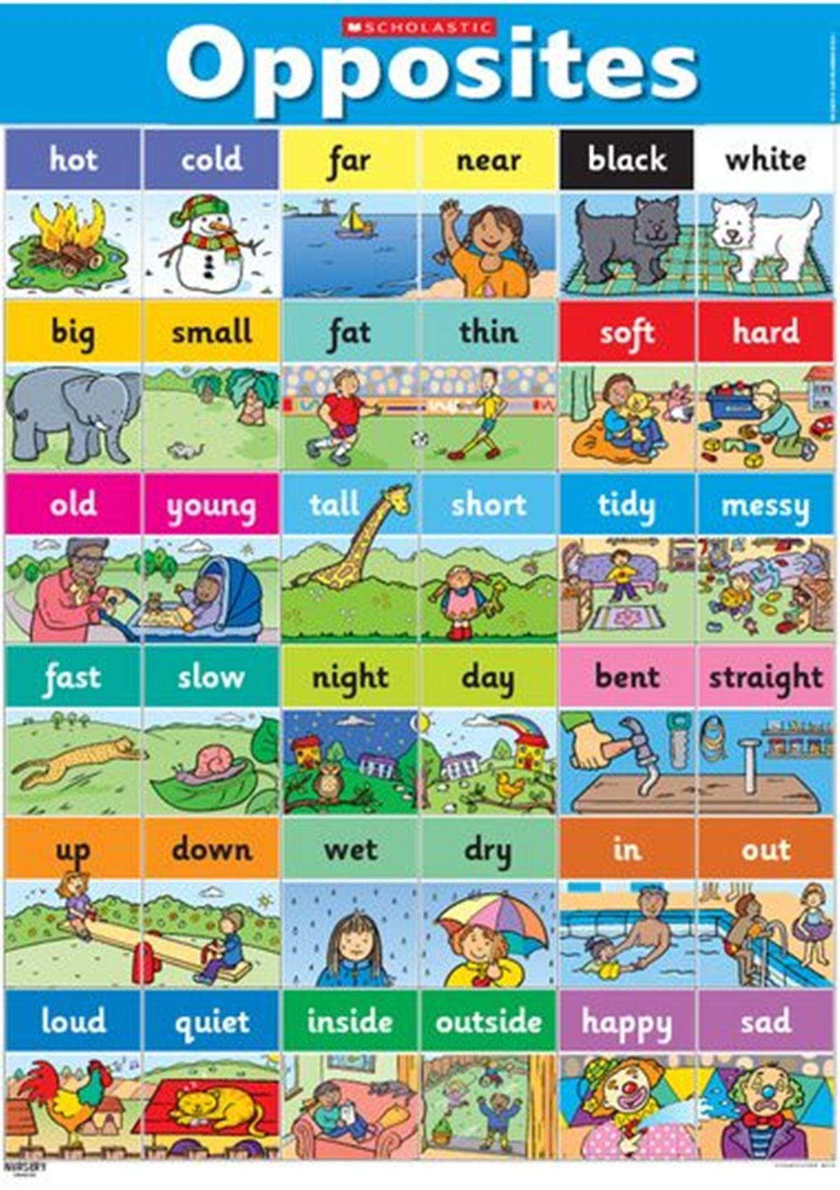 List of Common Antonyms in English 3