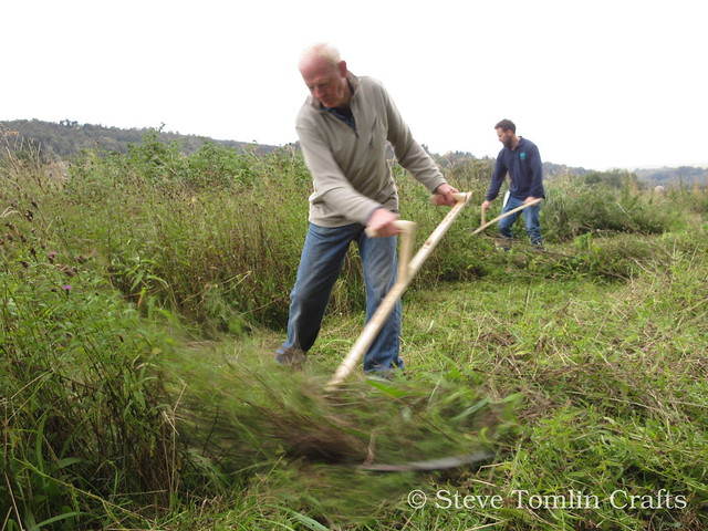 Scything a roadside wildflower meadow