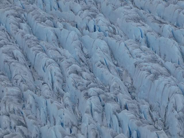 Glaciar desde el aire (Helicóptero en el sur de Groenlandia)
