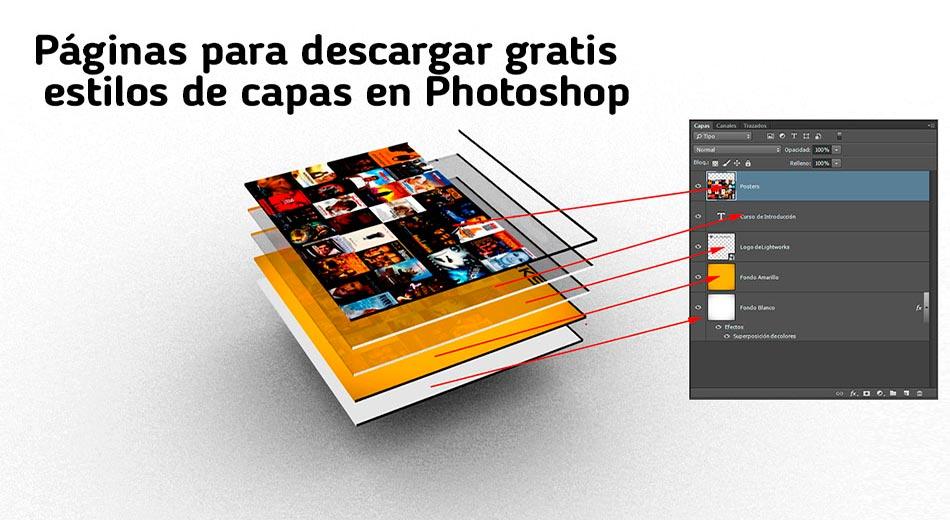 Las mejores páginas para descargar gratis estilos de capas en Photoshop