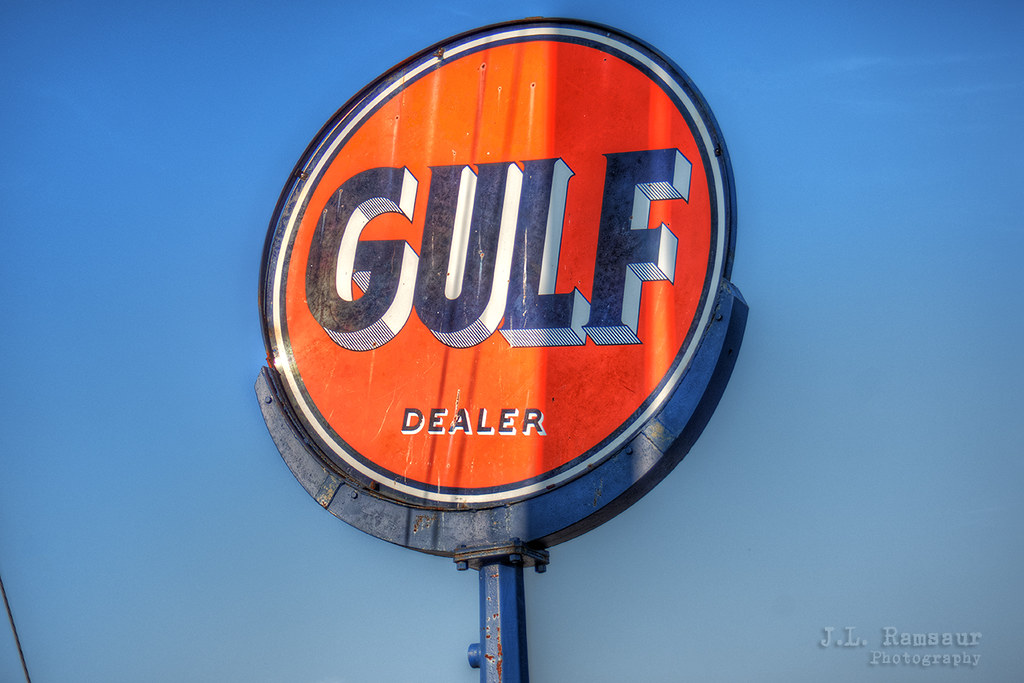 Vintage Gulf Dealer sign | Not too many of these left around… | Flickr