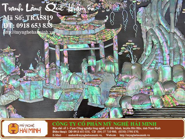 TRA5819e  Tranh Lang Que kham oc  do go mynghehaiminh