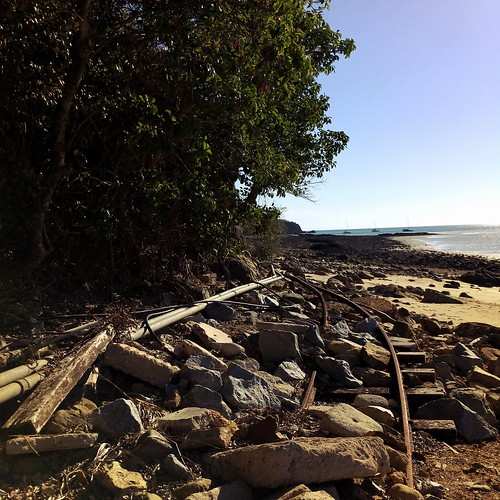 Decrepit old tram tracks on Brampton Island. | by miaow