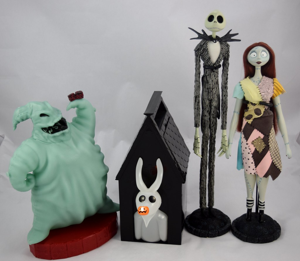 nightmare before christmas dolls and popcorn buckets by drj1828