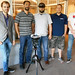 The augmented reality team: Henry Gertsen, John Morales, Brian Bleck (wearing augmented reality headset), Benjamin Katko, and Alessandro Cattaneo.