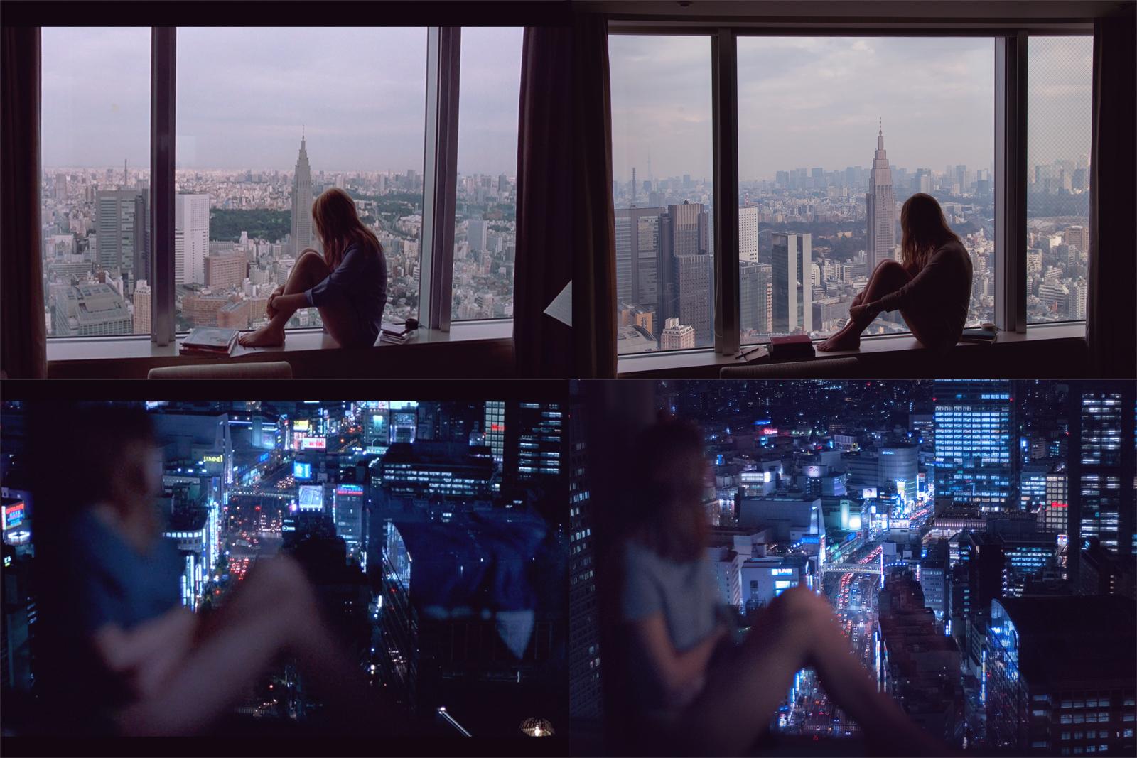Remaking film stills from Lost in Translation at Park Hyatt in Tokyo