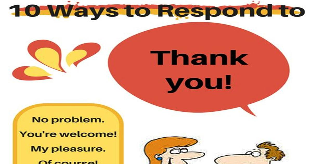 Ten Ways to Respond to THANK YOU in English 5