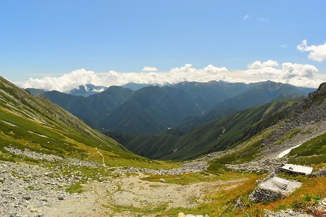 一の越から槍ヶ岳方面の展望
