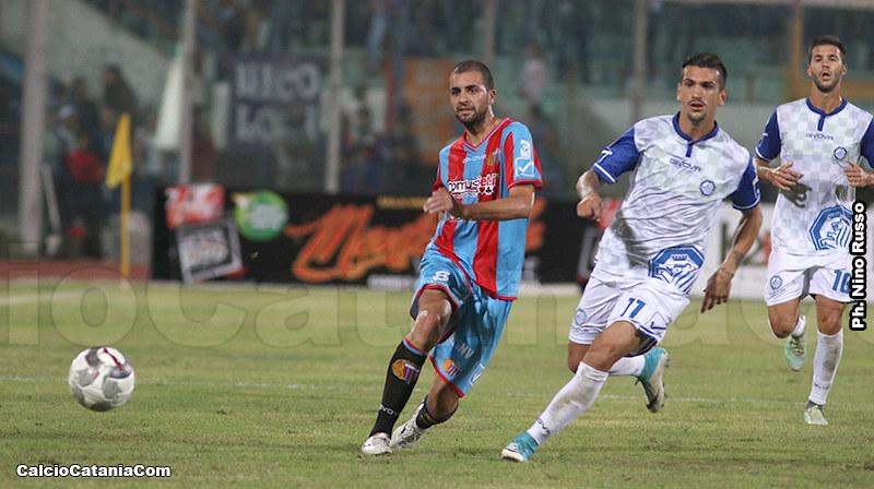 Un momento della sfida tra Catania e Andria dello scorso 23 settembre, conclusasi con la vittoria in extremis dei rossazzurri