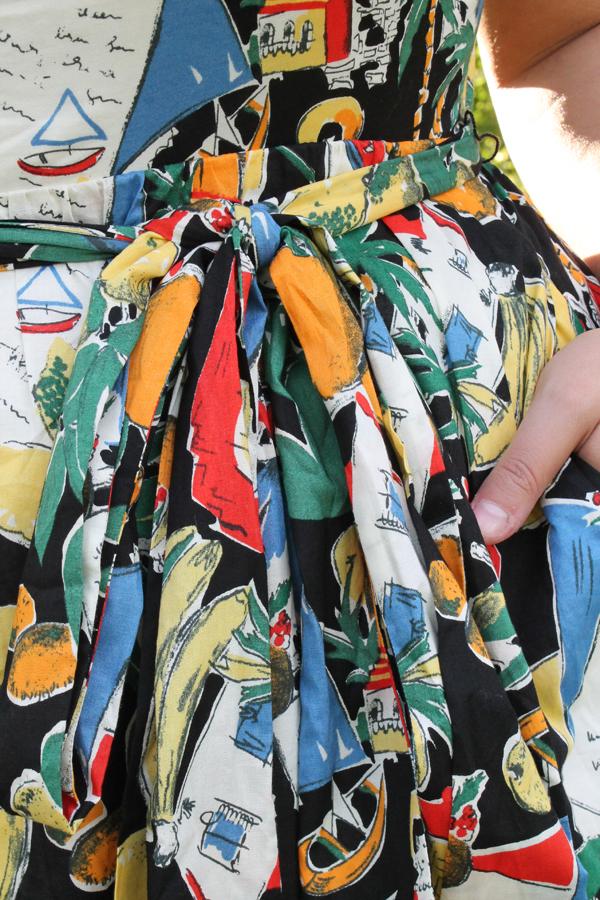 spanish print dress