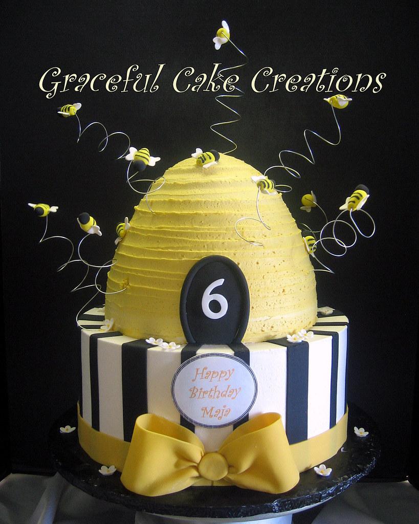 Beehive Bumblebee Birthday Cake Grace Tari Flickr