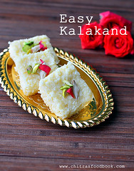 Easy kalakand with condensed milk