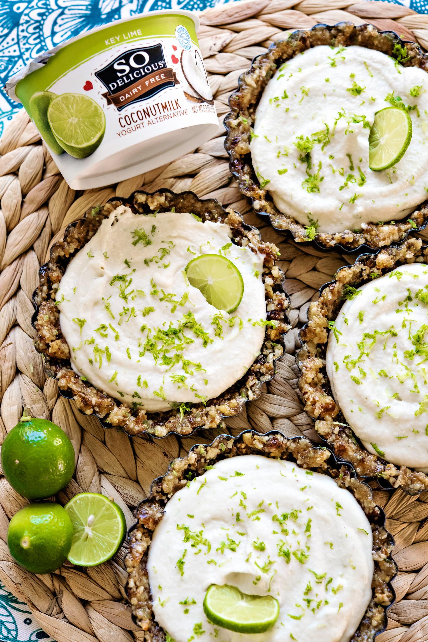 vegan key lime tarts