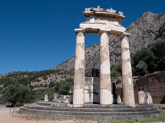 Delph, where the Pythia babbled her prophecies