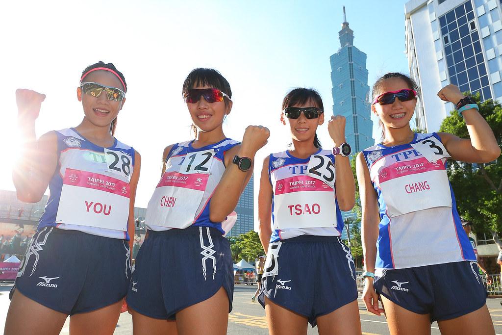 游雅君、陳宇璿、曹純玉與張芷瑄(由左至右)。(世大運組委會提供)