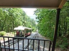 Incline Railway Car meets Incline Railway Car