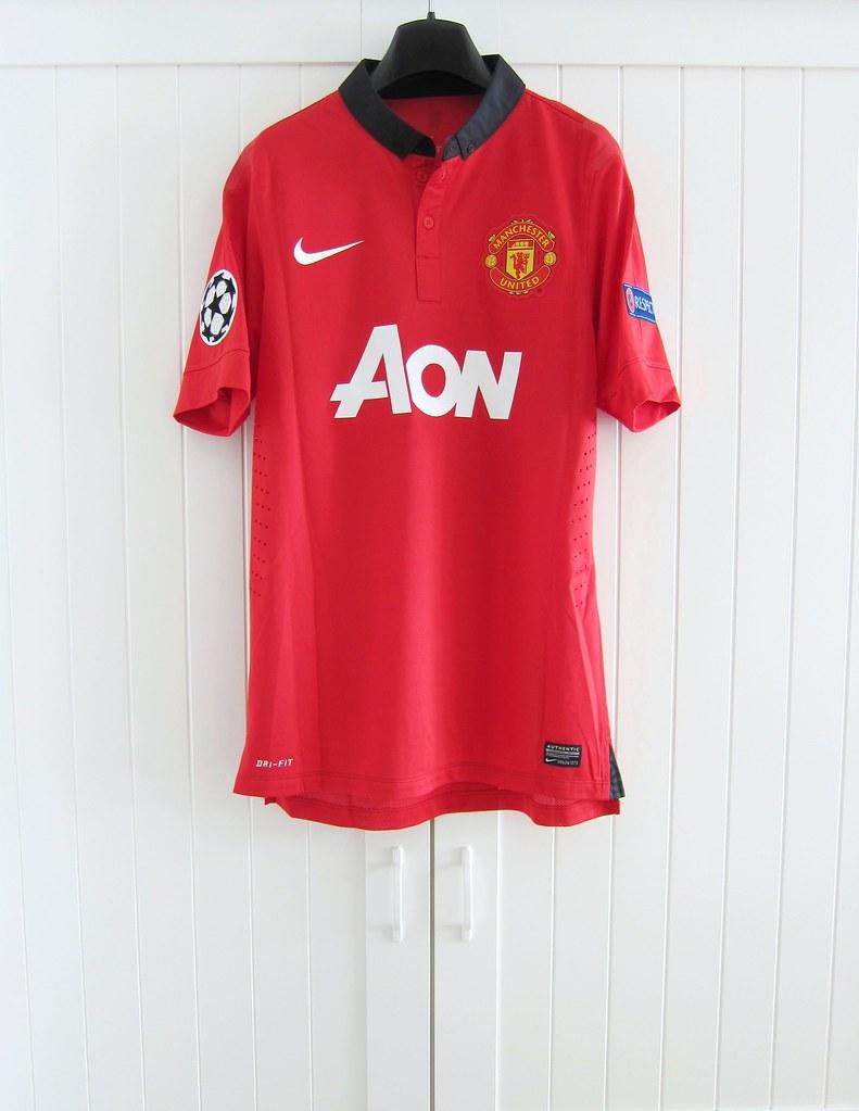 6d59630ba51 ... 2013-2014 Manchester United Home Ryan Giggs Champions League Match Worn  Shirt