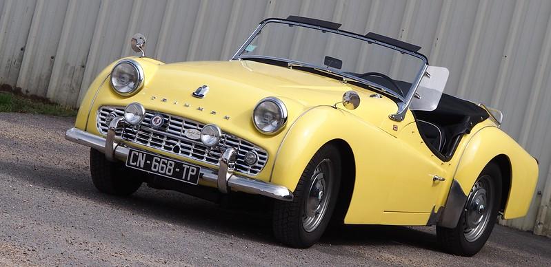 Triumph TR3 jaune Mayonnaise - Cerny (91) Septembre 2017 36819397556_0c653482de_c