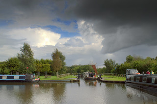 Grim weather at the canal dock at Cottam Preston | by Tony Worrall