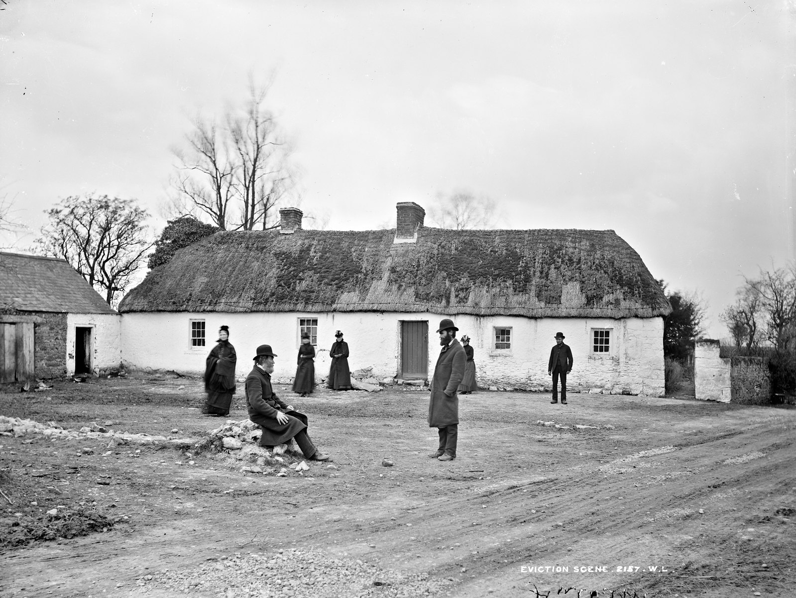 John and Andrew Fox's house, after eviction, Clongorey, Co.Kildare | by National Library of Ireland on The Commons