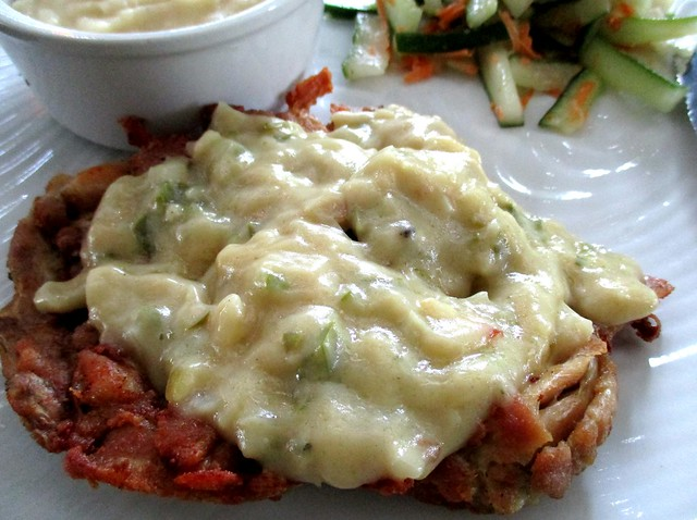 Payung Cafe chicken chop, yogurt & green peppers sauce