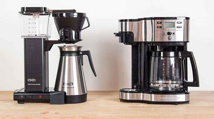Two Drip Coffee Machines On A Kitchen Counter Www