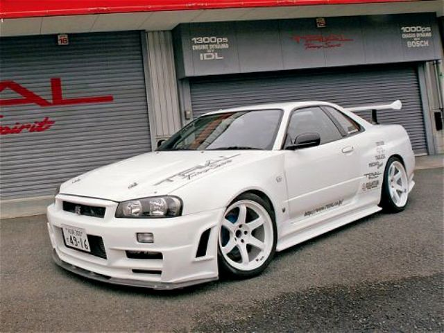 nissan skyline r34 z tune white autoart dx custom. Black Bedroom Furniture Sets. Home Design Ideas