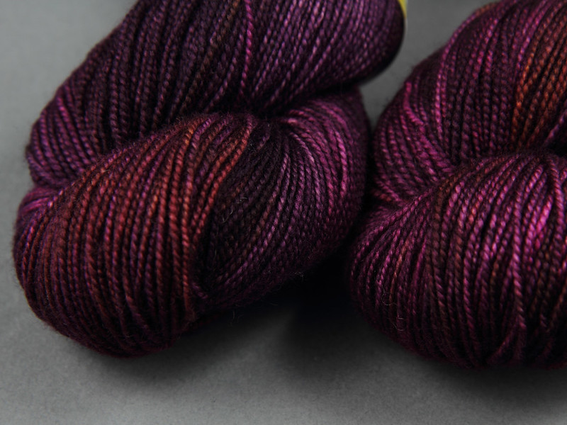 It's a Stitch Up Favourite Sock 4 ply merino in 'Dancing in the Dark'
