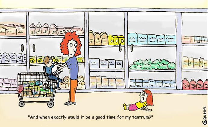 Tira cómica sobre las pataletas: