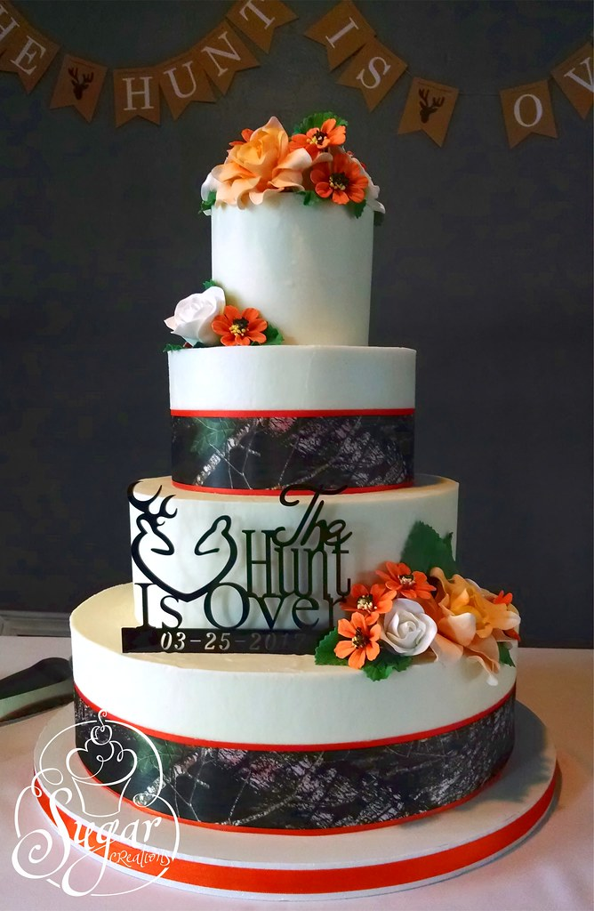 Hunting Theme Wedding Cake Rebecca Sutterby Flickr