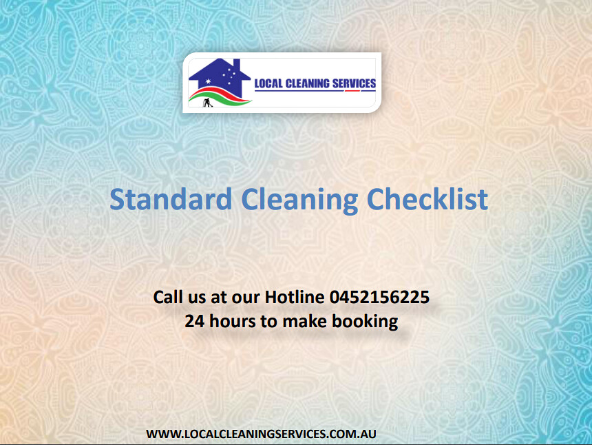Standard cleaning checklist local cleaning services flickr standard cleaning checklist local cleaning services by localcleaning thecheapjerseys Choice Image