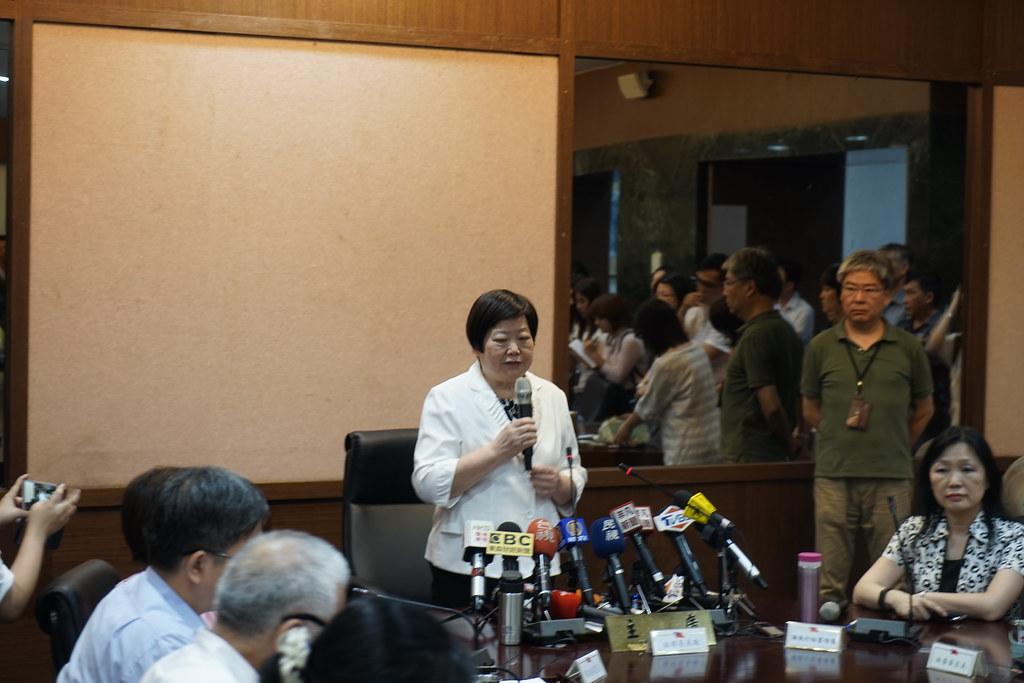 勞動部長林美珠主持基本工資審議會議。(攝影:張宗坤)