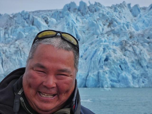 Ayo, capitán inuit de una de las zodiaks de Tierras Polares