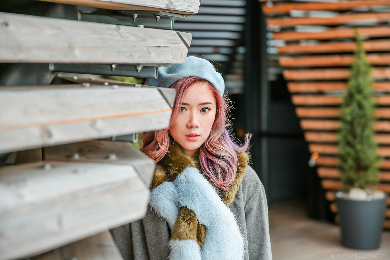 Camille Co, unicorn hair and beret - www.itscamilleco.com