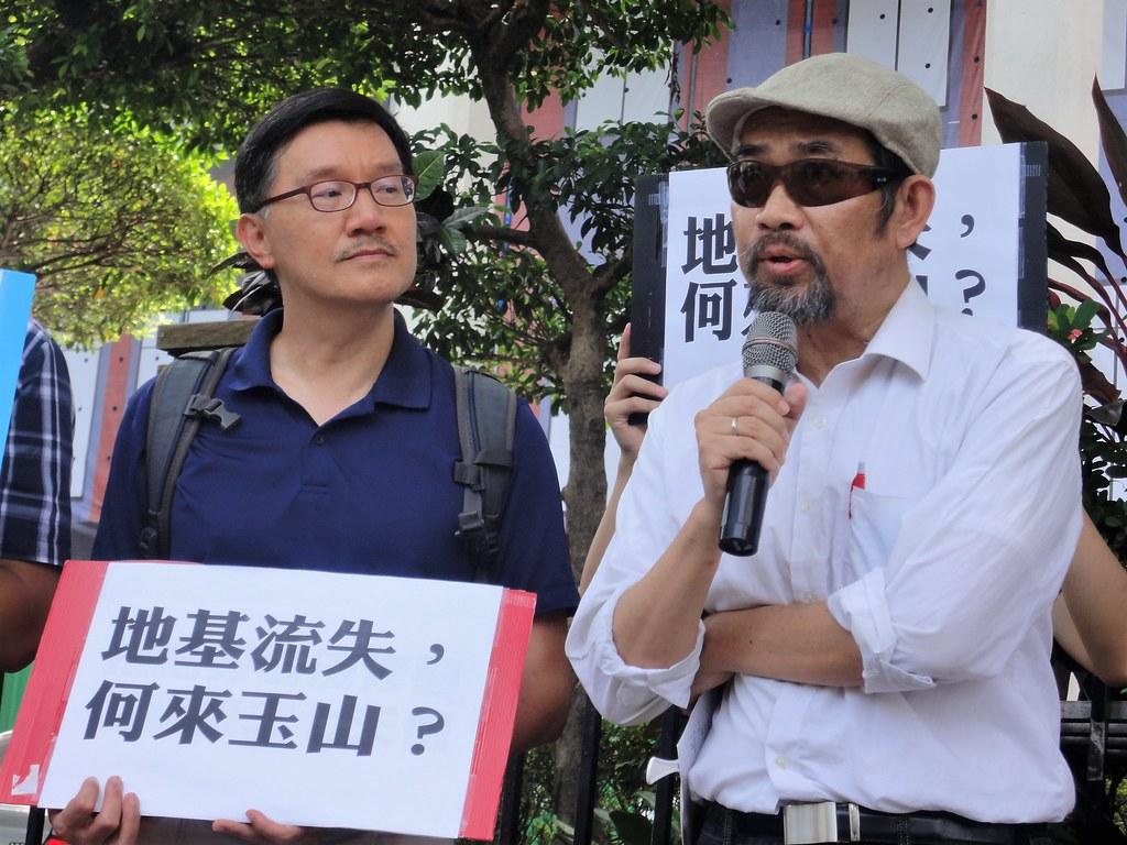 南華大學應用社會學系副教授周平認為,玉山計畫如同「血鑽石」,罔顧基層學者的權益。(攝影:張智琦)