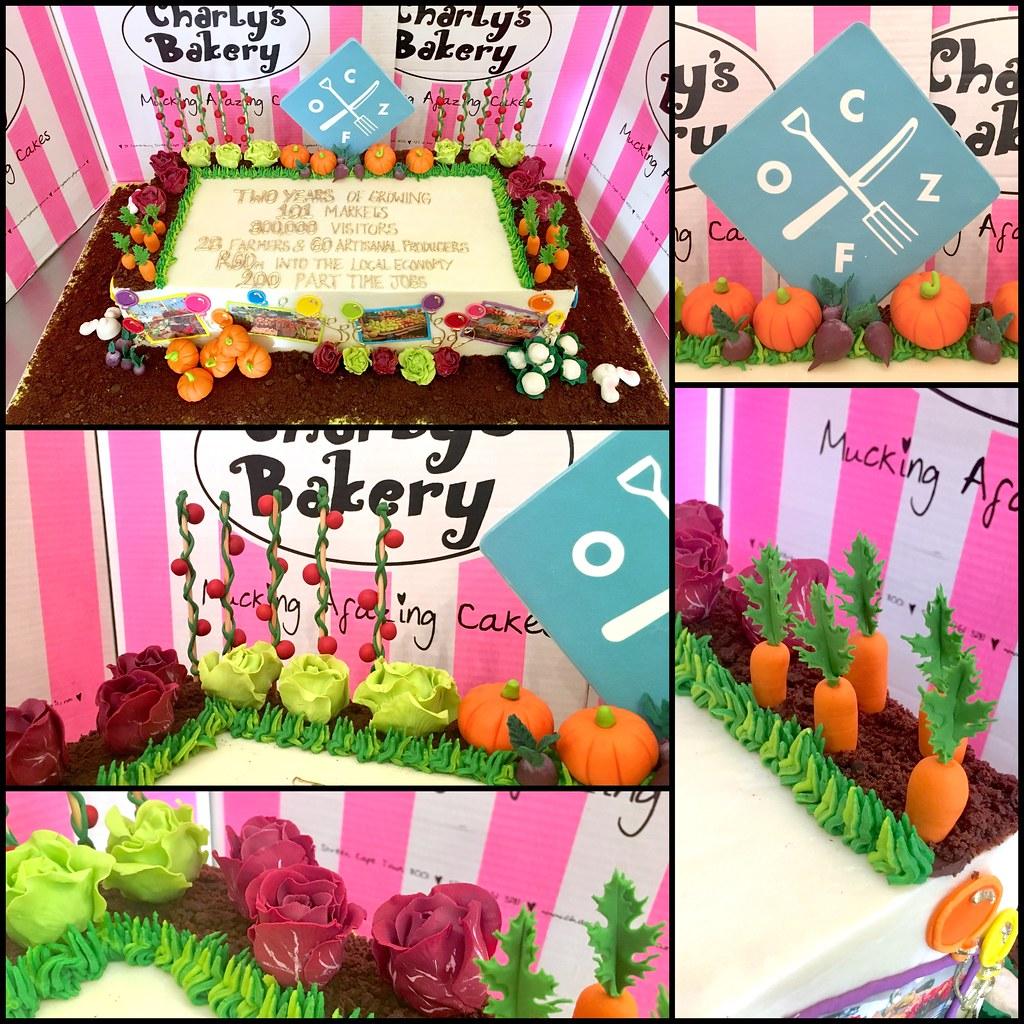 Remarkable Ozcf Organic Market Veggie Garden Birthday Cake Charlys Bakery Personalised Birthday Cards Akebfashionlily Jamesorg