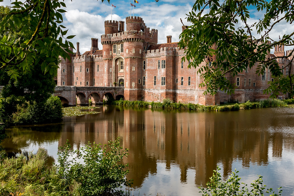 Moat and castle at Herstmonceux