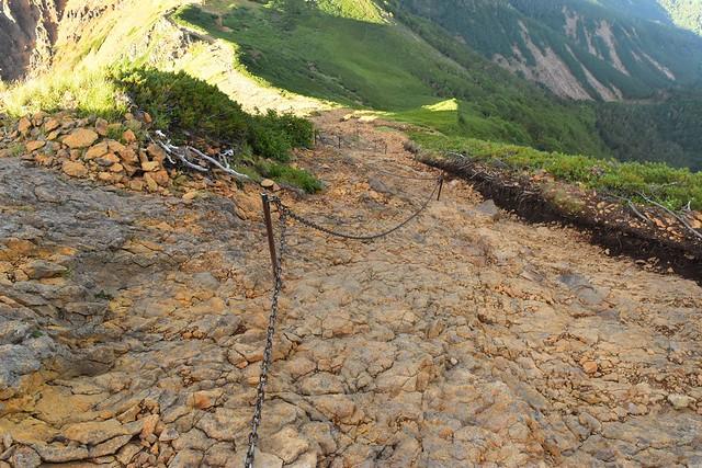 赤岳から下山