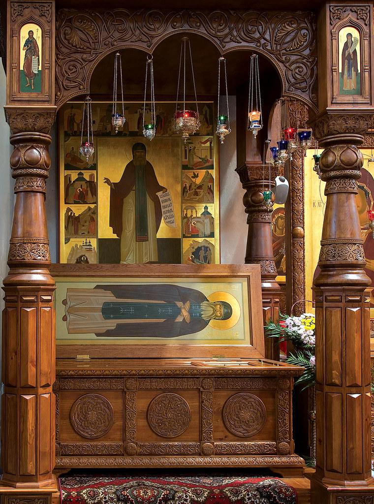 Сень над мощами преподобного Иоанна в Успенском соборе