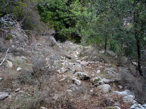 Le chemin après le ruisseau de Funtana Russa