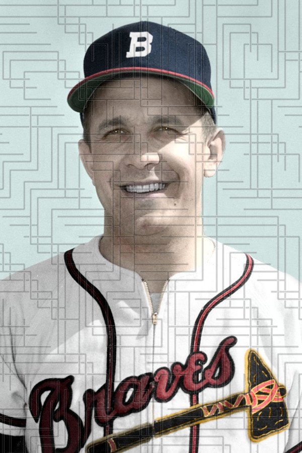 29 Year Old Second Baseman Billy Reed Broke Camp With The 1952 Boston Braves And Played In 15 Early Season Games They Were To Be His Only Major League