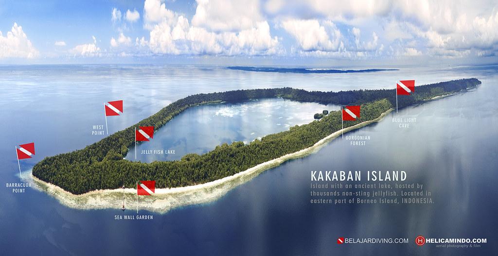 Kakaban Island Aerial Diving Map | Kakaban Island, an island… | Flickr