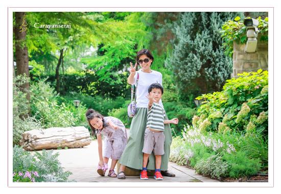 兄弟で七五三写真 名古屋 塩竃神社(名古屋市天白区) 着物 フラリエ(名古屋市中区) 花と一緒に親子写真・キッズフォト スタジオ